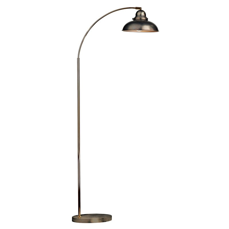 Dynamo Floor Lamp Antique Chrome from Franks Complete House Furnishers