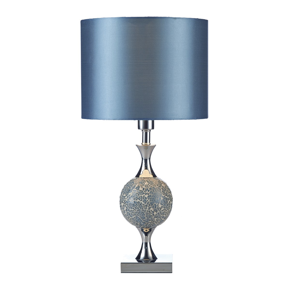 Elsa Table Lamp Blue Mosaic Complete With Shade from Franks Complete House Furnishers