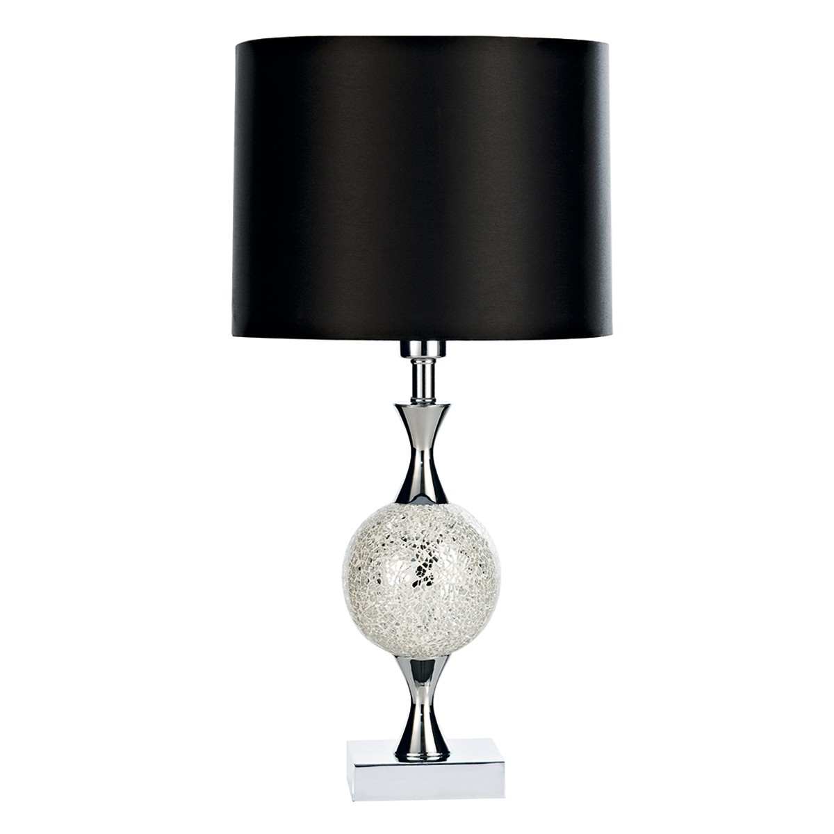 Elsa Table Lamp Silver Mosaic Complete With Shade from Franks Complete House Furnishers