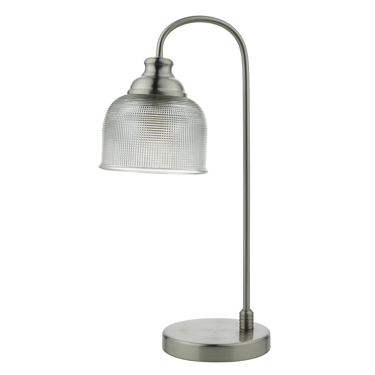 Hector Touch Table Lamp Satin Nickel Decorative Glass from Franks Complete House Furnishers