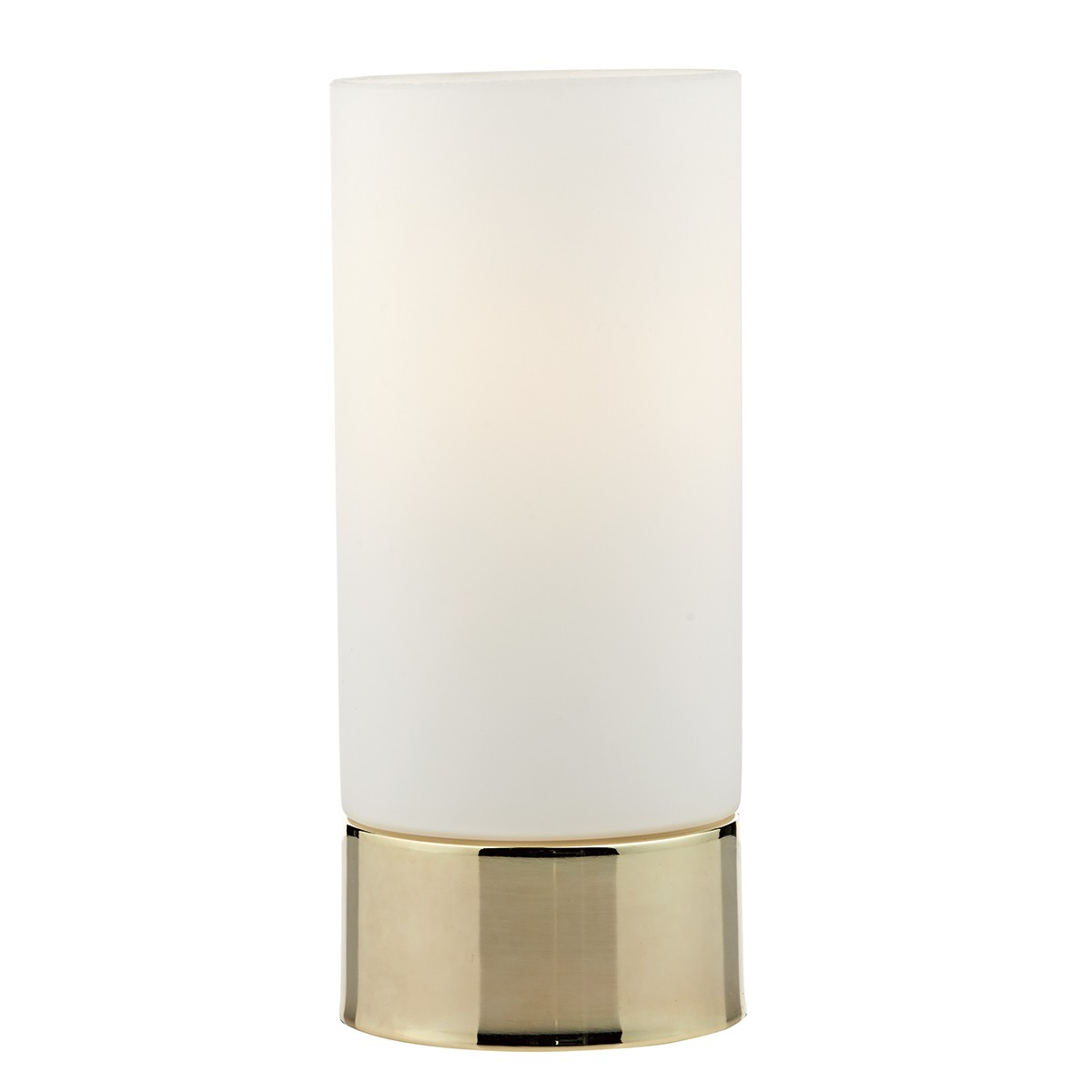 Jot Touch Table Lamp Gold Complete With Glass Shade from Franks Complete House Furnishers